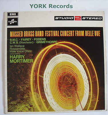 MASSED BRASS BAND FESTIVAL CONCERT FROM BELLE VUE - Ex Con LP Record TWO 240