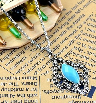 New Classical Natural hot resin cute tibet silver Necklace+Pendant H-1296