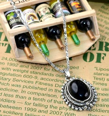New Classical Natural hot resin cute tibet silver Necklace+Pendant H-1402