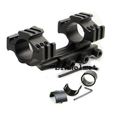 Heavy Duty Tri-rail 30/25.4mm Cantilever Scope Dual Rings Mount Pica 20mm AR