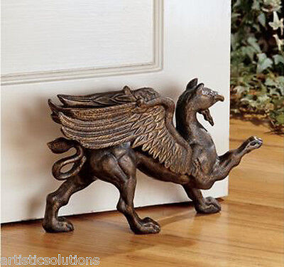 Victorian Griffin Cast Iron Doorstop Gryphon Sculpture Statue Free  Shipping!