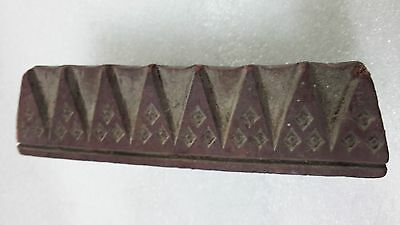 1800 Old hand engraved sharp mountain hill pattern wooden textile printing stamp