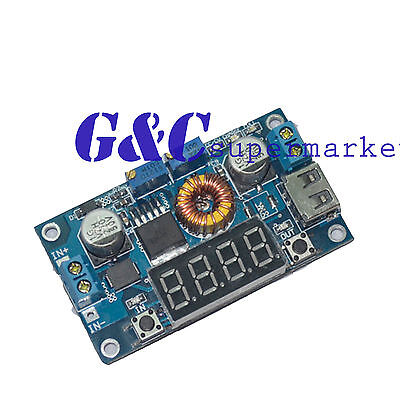 5A LED Drive Lithium charger Step down 5A Power Supply Module + Voltmeter M39
