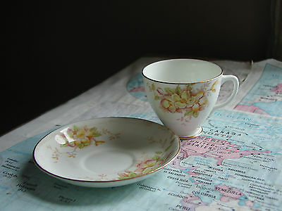 Sampson Smith Old Royal Bone China Tea Cup and Saucer (Made in England)