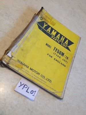 Yamaha parts list TY50  TY50M type 1G7 TY 50 1978