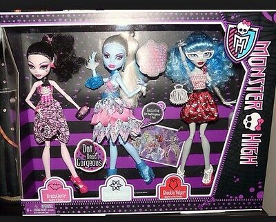 Monster High Doll Dot Dead Gorgeous Party Dolls Draculaura Abbey NEW DAMAGED BOX