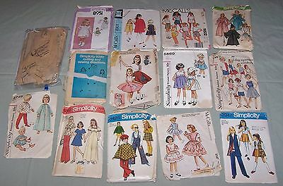 Lot/13 Vintage Sewing Patterns McCall Simplicity 1958-84 Girls Costume Pinafore