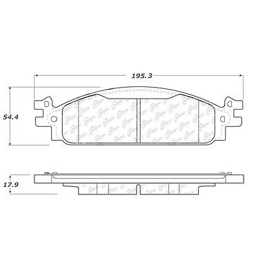Posi-Quiet Extended Wear w/Shims & Hardware fits 2011-2014 Lincoln MKT