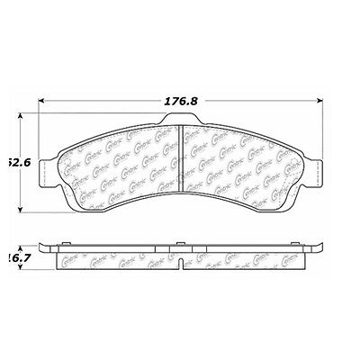 Posi-Quiet Extended Wear w/Shims & Hardware fits 2005-2005 Saab 9-7x
