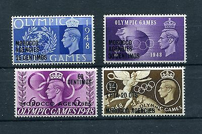 Morocco Agencies Gvi Olympic Games 1948 Mnh Perfect Quality 527-530 Sg 178-181