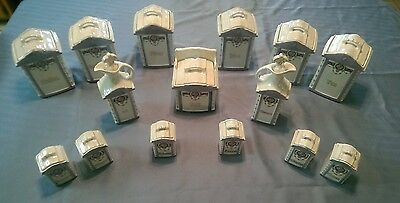 Vintage German Spice/Canister Set Complete 15pc Mepoco Lusterware BEAUTIFUL
