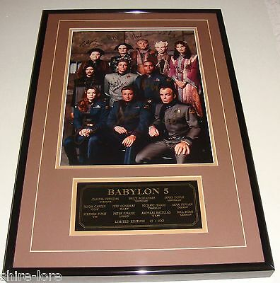Babylon 5  Framed Signed Photograph signed by 11 Cast members #47 of 100