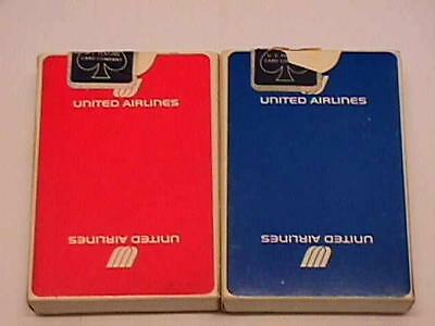 United Airlines Playing Cards - Two Full Decks