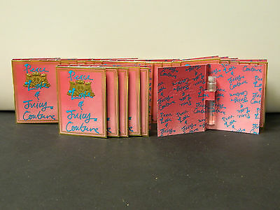 JUICY COUTURE PEACE & LOVE EDP SPRAY LOT OF 24 MINI ON CARD 0.5 OZ EACH NEW