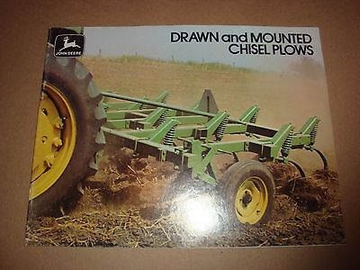 Vtg 1976 John Deere Sellers brochure Drawn and Mounted Chisel Plows A-5-76-11