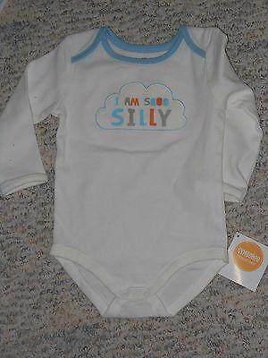 """NWT -Gymboree """"Brand New Baby"""" long sleeved """"So Silly"""" ivory top - 3-6 mos boys"""