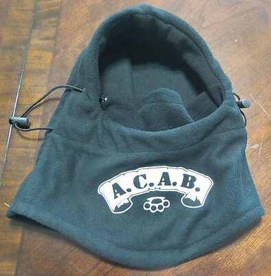 ACAB Biker hoodie hat thick face covering 4 in 1 Mask