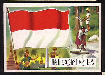 1956 Topps Gum FLAGS OF THE WORLD #20 INDONEDIA