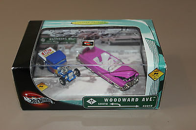 Hot Wheels Woodward Ave Limited Edition 2 Car Set - Signed by Larry Wood 1:64