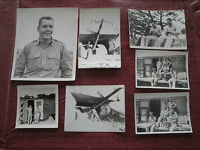 Vintage Korean War / WWII Era Photographs - Lot of 7 Black & White Military