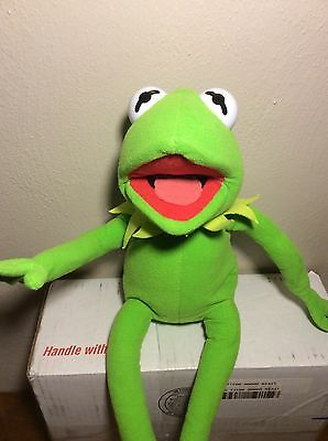 "18"" Muppets Kermit the Frog Plush Doll Poseable Figure Doll Stuffed Toy Nanco"