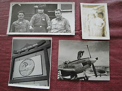 Vintage Korean War Era Photographs - Lot of 4 B & W 67th Recon Military