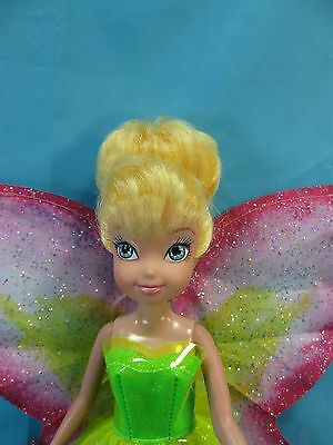 """Disney Tinkerbell Fairy Doll, 9"""" Doll Working Wings Lights Magic Flying Sound"""