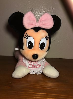 Vintage Disney Babies Disneyland Pink Plush Soft Stuffied Minnie Mouse