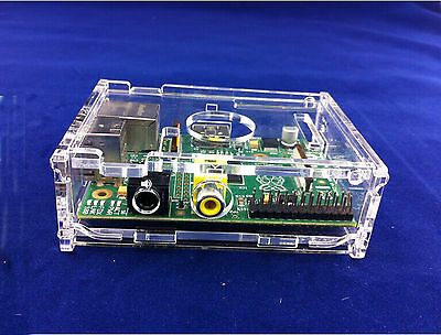 Transparent Clear Acrylic Case Shell Enclosure Computer Box for Raspberry Pi M32