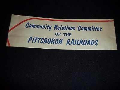 VINTAGE COMMUNITY RELATIONS OF THE PITTSBURGH RAILROAD PAPER HAT