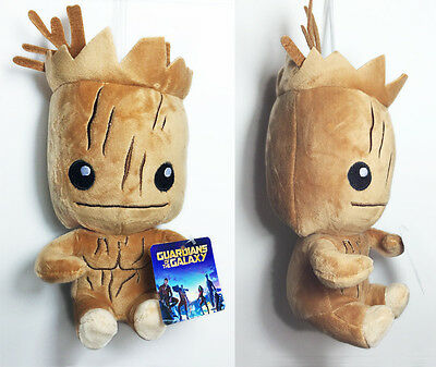 "HOT 22cm 8.5"" Guardians of the Galaxy I am Groot Soft Plush Toy Stuffed Doll 0"