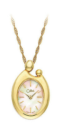 COLIBRI LADIES 23KT GOLD MOTHER AND CHILD NECKLACE & PENDANT $80 BRAND NEW GIFT