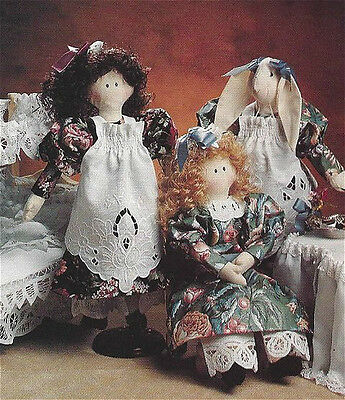 PATTERN Primitive Victorian Style Dress Pattern for 4 sizes of Dolls UNCUT OOP