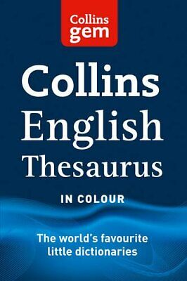 Collins Gem English Thesaurus (Collins Gem) by Collins Dictionaries Book The