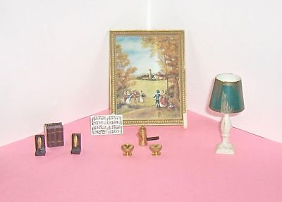 Group  of Eight   Ideal Petite Princess Vintage Dollhouse Accessory Items