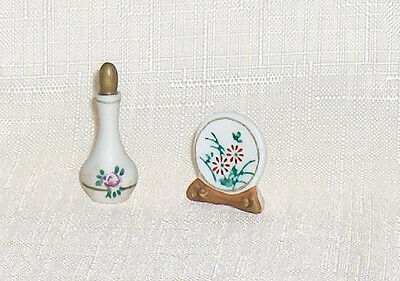Porcelain Picture Plate and Porcelain Decanter  Ideal Petite Princess Accessory