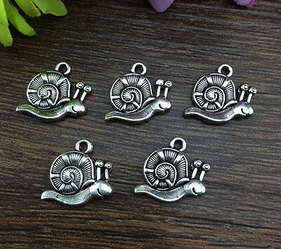 Wholesale 10pcs Tibet silver Snails Charm Pendant beaded Jewelry Findings ! ! !