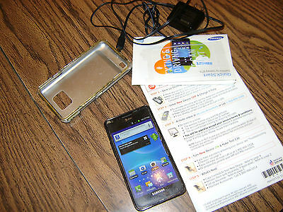 Samsung Galaxy S II SGH-I777 - 16GB - Black (AT&T) Smartphone with charger