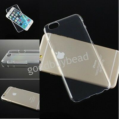 "Ultra Thin Clear Transparent Crystal TPU Hard Back Cover For iPhone 6 4.7"" Case"