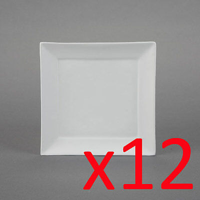 Ceramic Bisque Ready to Paint Your Own Pottery Square Salad Plate x 12