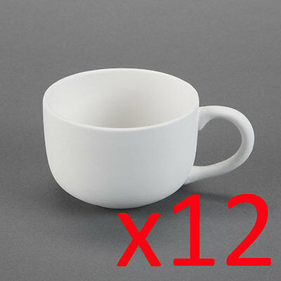 Ceramic Bisque Ready to Paint Your Own Pottery Jumbo Latte Soup Mug x 12