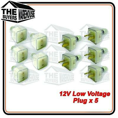 12 volt PowerSocket Extention T Plug Caravan Boat Marine 4WD Low voltage 2 pin.