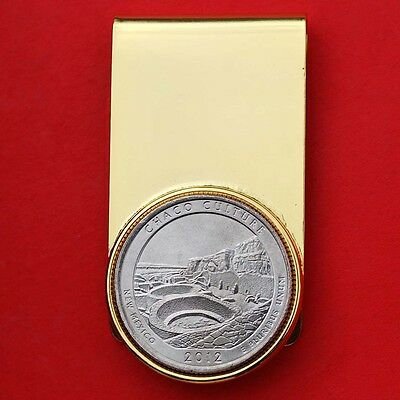 2012 New Mexico Chaco Culture National Forest Historical 25c GP Money Clip NEW
