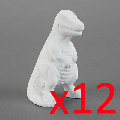 Ceramic Bisque Ready to Paint Your Own Pottery T-Rex Dinosaur x 12