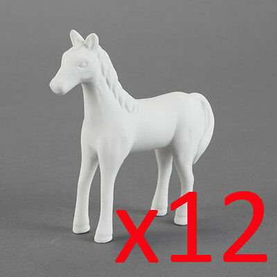 Ceramic Bisque Ready to Paint Your Own Pottery Cute Standing Horse x 12
