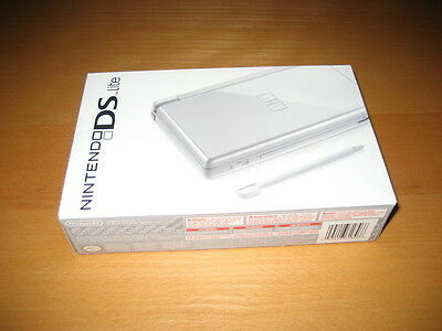Nintendo DS Lite Metallic Silver Game Console System New Factory Sealed