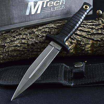 "9"" TACTICAL COMBAT BOOT KNIFE Survival Hunting MILITARY BOWIE Fixed Blade SHEATH"