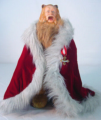 """WIZARD of OZ Franklin Mint Heirloom COWARDLY LION 20"""" inches~ damaged discounted"""