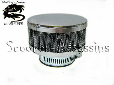 42mm PANCAKE FREE FLOW CHROME FLAT ROUND  POWER AIR FILTER