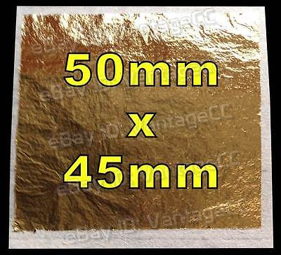 6x 50mm x 45mm 99% Pure 23.75k 23.75ct Gold Leaf Edible Sheets Baking Crafts